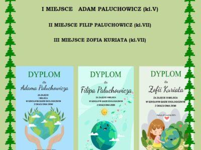 Zwycięzcy quizu ekologicznego